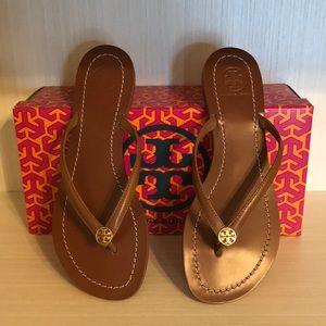 New- Tory Burch Terra Tan Sandals Size 7